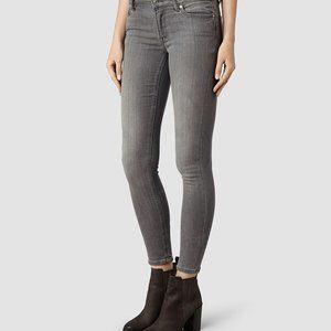 All Saints Mast Grey Skinny Jeans